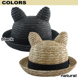 帽子 麦わら帽キッズ 子供用 麦わら帽子 耳付きハット.png