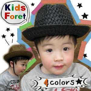Kiz Foret キッズフォーレ麦わらハット4color(B35457)SS13KIDS.png